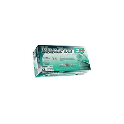 "Microflex Medical Corporation Green 12"" NeoPro® EC 6.3 mil Chloroprene Ambidextrous Non-Sterile Powder-Free Disposable Gloves With Textured Fingers Finish And Extended, Beaded Cuffs (50 Each Per Box)"