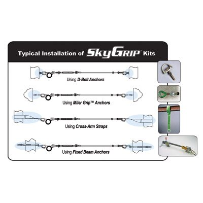Tie Back Brackets, 2 Chain Connectors And 2 Slider Brackets WIth Hardware For SkyGrip™ ...