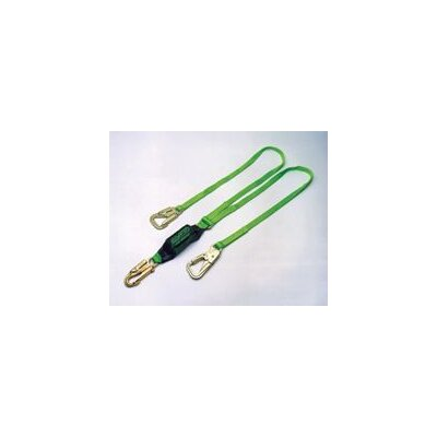 Miller Fall Protection 6' Double Legged Tie Back Lanyard Made Of Green Cordura® Nylon