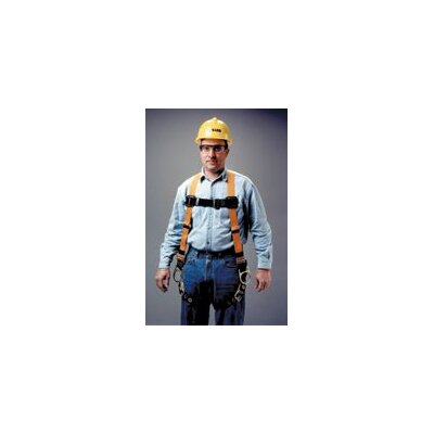 Miller Fall Protection Full Body Harness With Sliding Back D-Ring, Side D-Ring And Tongue Buckle Legs