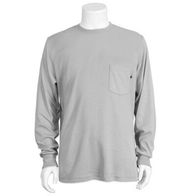 National Safety Apparel Inc Gray Indura Ultra Soft™ Long Sleeve Flame Resistant T-Shirt