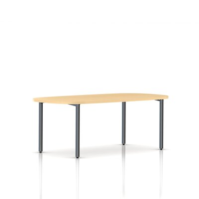 Herman Miller ® Everywhere Oval Table with Post Leg