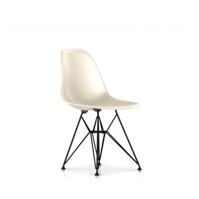 Eames Molded Fiberglass Side Chair with Wire Base