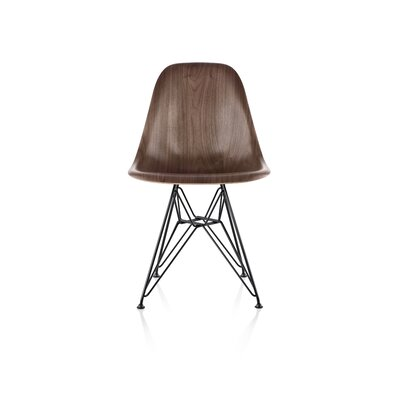 Eames� Molded Wood Side Chair With Wire Base