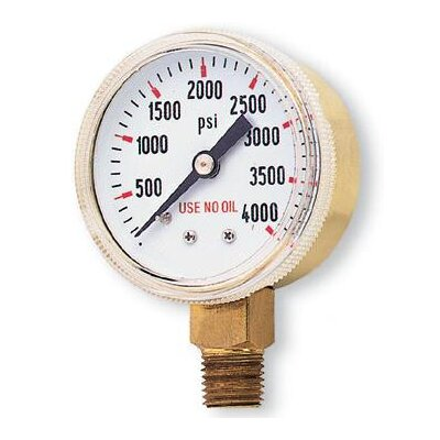 "Radnor 1/2"" X 4000 PSI Brass Replacement Regulator Gauge"