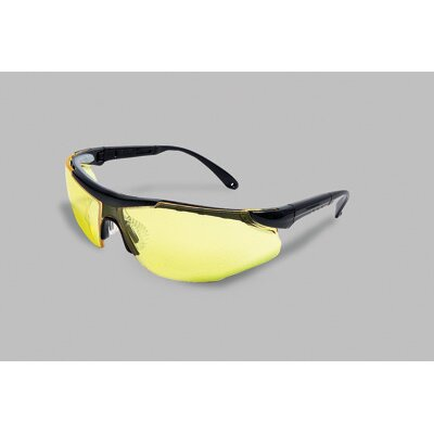 Radnor Plus Series Safety Glasses With Black Frame And Amber Lens