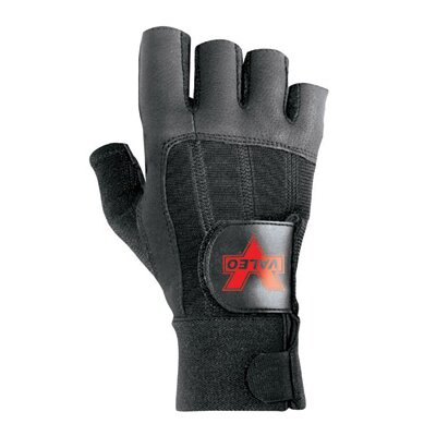 Black Left Hand Pro Fingerless Full-Leather Anti-Vibe Glove With AV GEL™ Padding And Hook And ...