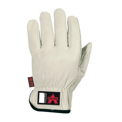 Tan Full Grain Leather Driver Anti-Vibe Gloves With AV GEL™ In Palm, Thumb And Fingers ...