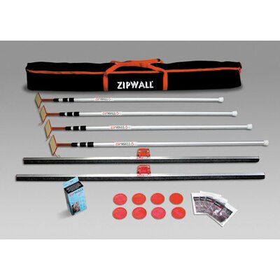 ZipWall 12' Spring Loaded Pole 4-Pack Kit with Carry Bag