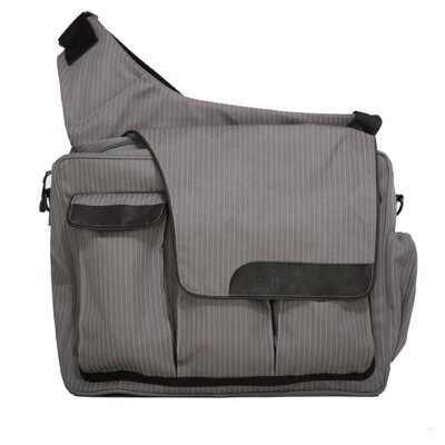Pinstripe Messenger II Diaper Bag