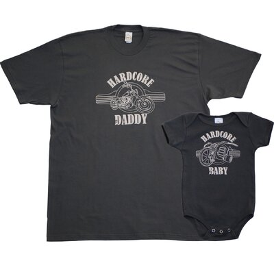 Diaper Dude Hardcore Daddy/Baby T-shirt and Bodysuit Set