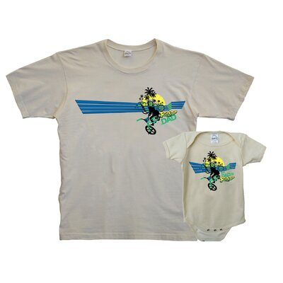 Diaper Dude Rad Daddy/Baby T-shirt and Bodysuit Set