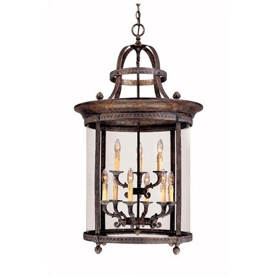 World Imports French Country Influence 9 Light Hanging Lantern