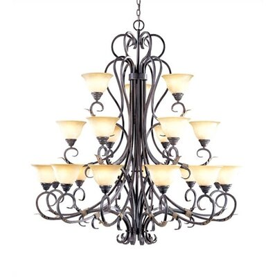 World Imports Olympus Tradition 21 Light Chandelier