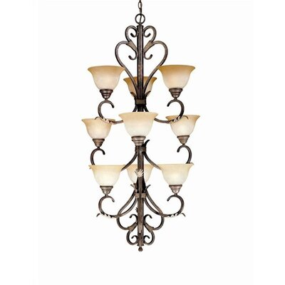 World Imports Olympus Tradition 9 Light Chandelier