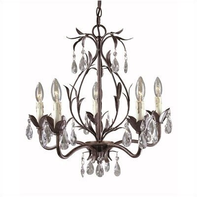 Bijoux 5 Light Mini Chandelier