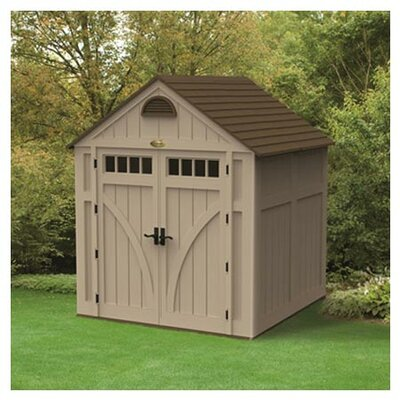 "Suncast 7'5.75"" W x 7'2.25"" D Highland Resin Storage Shed"