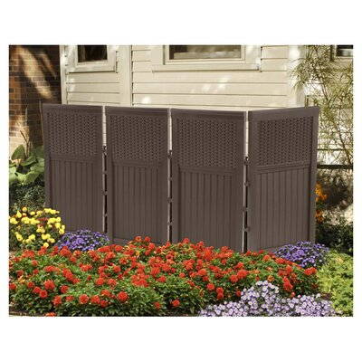 <strong>Suncast</strong> 4 Panel Resin Wicker Outdoor Screen