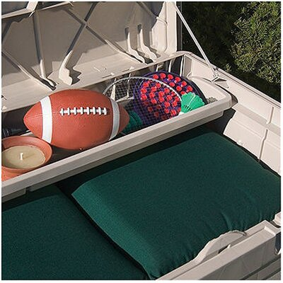 Suncast Resin Deluxe Deck Box with Seat