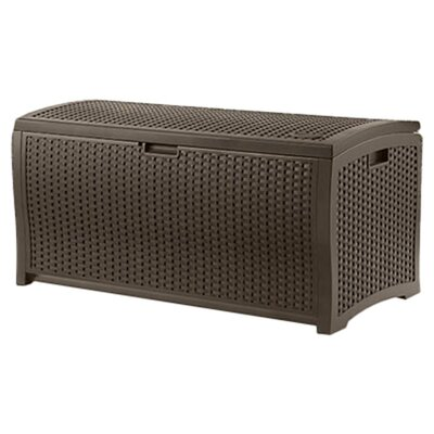 Suncast Resin Wicker 73 Gallon Deck Box