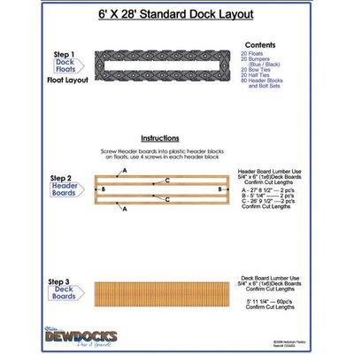 "DewDocks - USA 72"" x 336"" Standard Dock Layout"