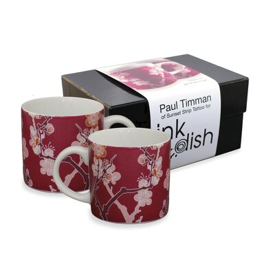 Ink Dish Cherry Ink 2 Mugs Gift Set