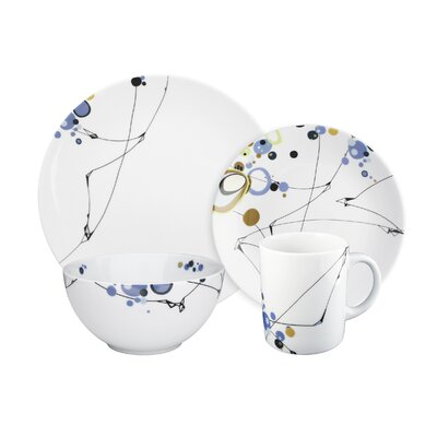 "Ink Dish Kites 10"" Dinner Plate"