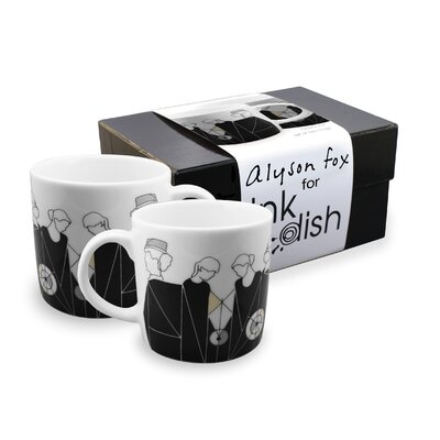Ink Dish Tug 2 Mugs Gift Set