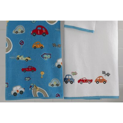 Kassatex Fine Linens Bambini Race Track Bath Accessory Set