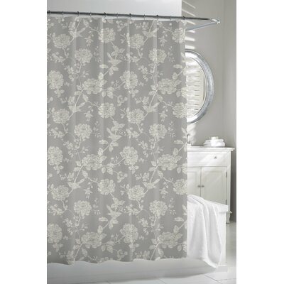 Kassatex Fine Linens Bliss Bird - Cortina Cotton Shower Curtain