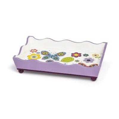 Kassatex Fine Linens Bambini Butterflies Tray