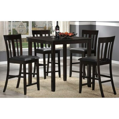New Spec Inc Cafe Pub 5 Piece Dining Set