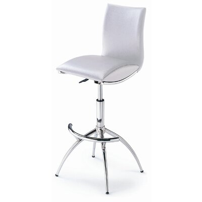 Barstool 60 Adjustable Barstool in White