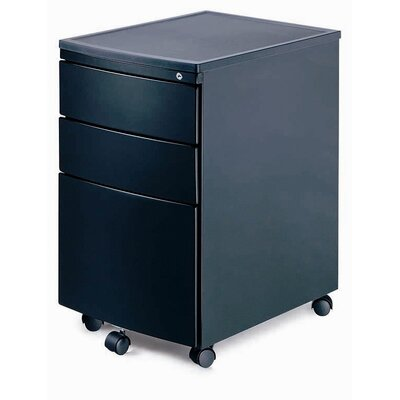New Spec Inc MP-02 Mobile File Cabinet in Black