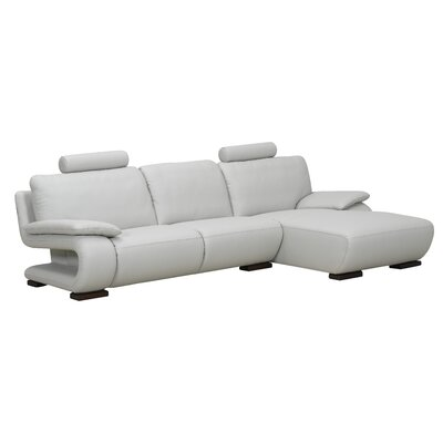 New Spec Inc Charlotte Right Leather Sectional