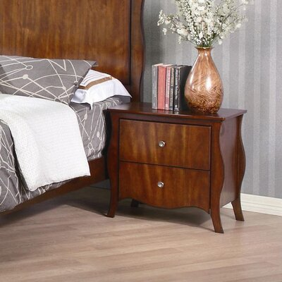 New Spec Inc Ontario 2 Drawer Nightstand