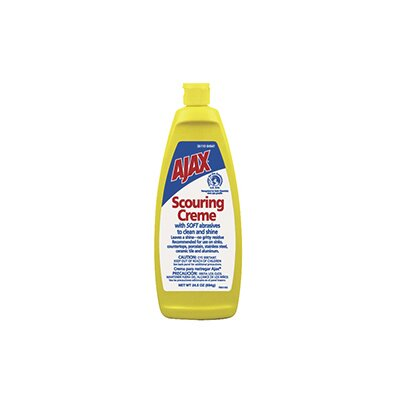 Ajax Scouring Crème Cleanser Lemon Scent Bottle in Cream