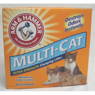 Arm & Hammer® Multi-Cat Extra Strength Clumping Unscented Litter