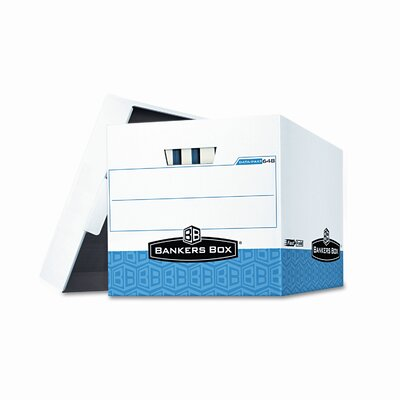 Bankers Box® Data-Pak Box For Bound Computer Printouts, 12-3/4 x 16 x 12-1/2, WE/Blue, 12/Ctn