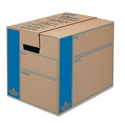 SmoothMove Moving Box, Extra Strength, Small, 12w x 16d x 12h, Kraft, FastFold