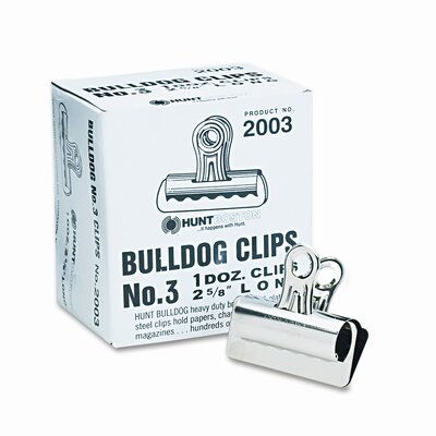 Bulldog Clips, Steel, 7/8