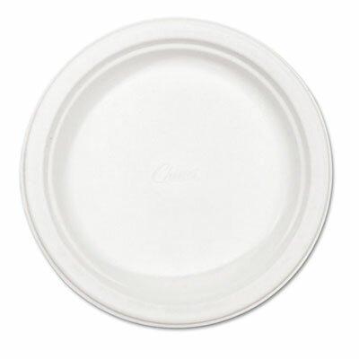 "Chinet Classic Paper Plates, 8-3/4"" Diameter, White, 125/Pack"