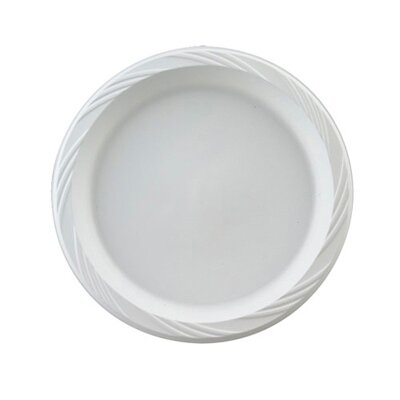 "Chinet 9"" Round Plastic Plates in White"