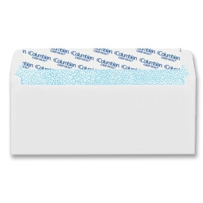 Columbian Envelope Dubl-Vue Poly-Klear Double Window Envelope, 3 7/8 x 8 7/8, White, 500/Box
