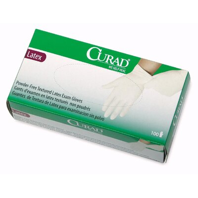 Curad Powder-Free Latex Exam Gloves, X-Large, 90/Box