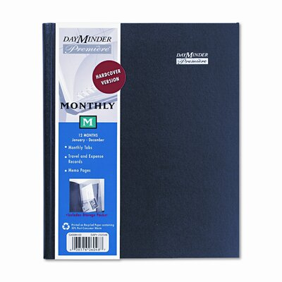 DayMinder Premiére Large Desk Monthly Planner, 6-7/8 x 8-3/4, Black, 2013