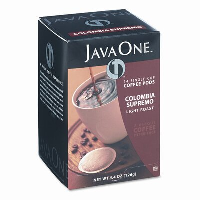 DISTANT LANDS COFFEE Single Cup Coffee Pods, Columbian Supremo, 14 Pods/Box