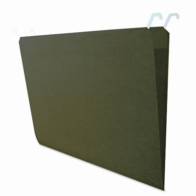 FIND IT Hanging File Folders with Innovative Top Rail, Legal, Green, 20/Pack