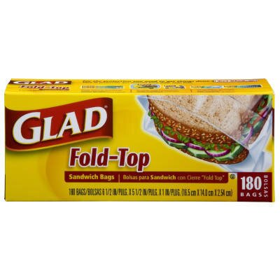 Glad Fold Top Sandwich Bags in Clear