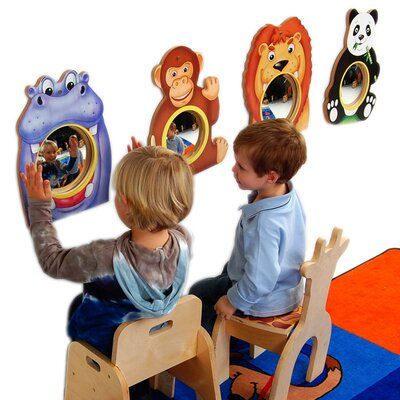 "Anatex 16"" H x 14"" W Animal Friends Wall Mirrors"